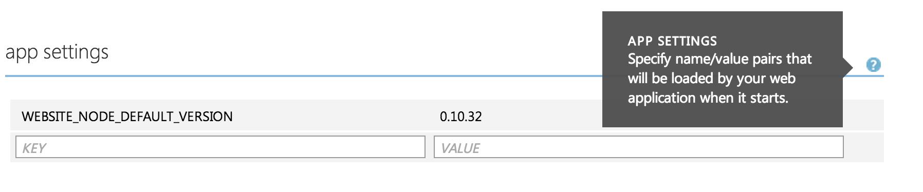Azure Env Variables