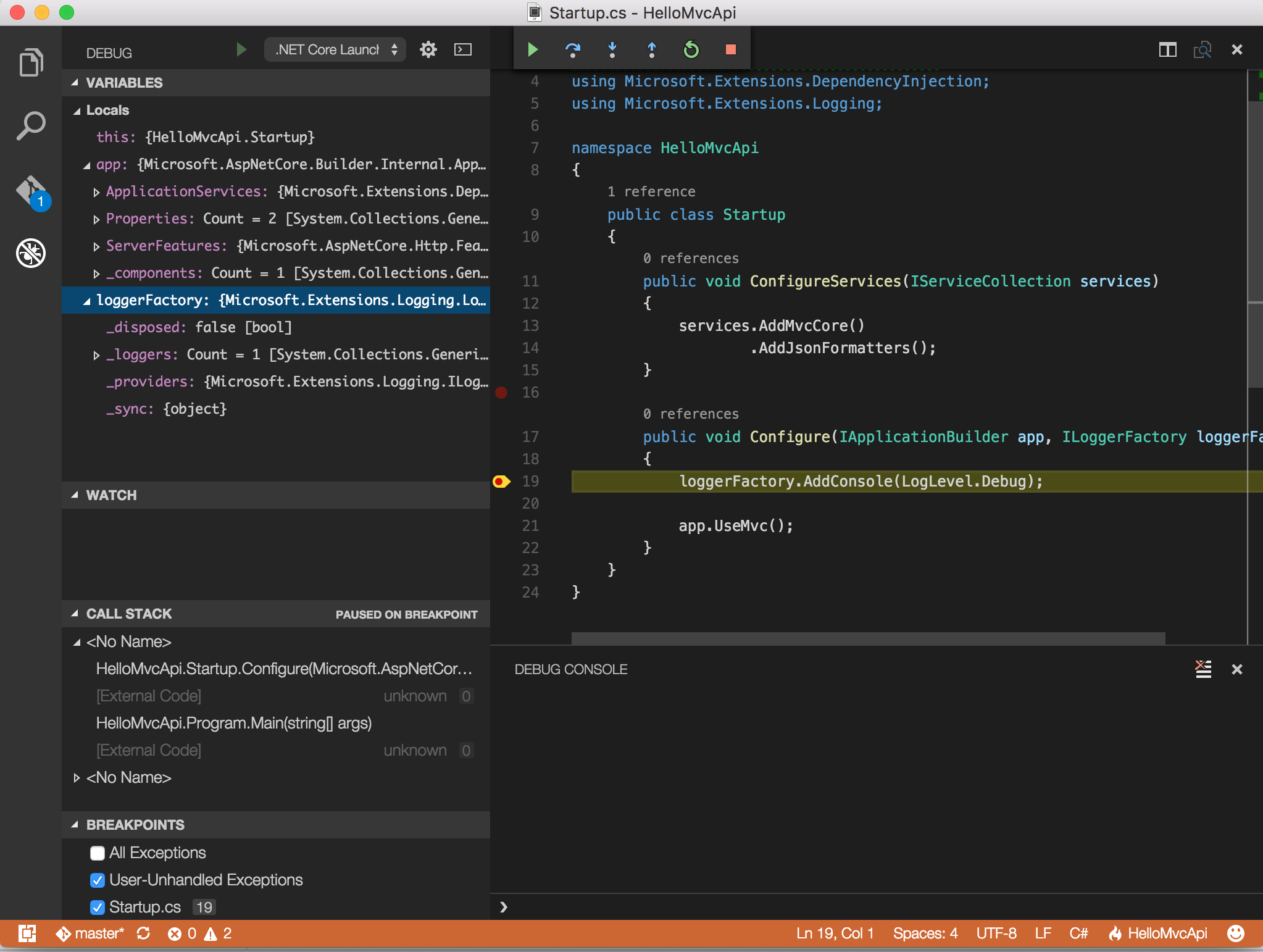 Shayne Boyer: Setting up ASP.NET Core debugging in VS Code