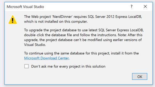 install LocalDB 2012