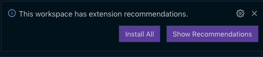Recommended Extension