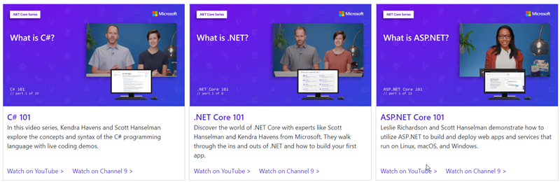.NET 101 Videos