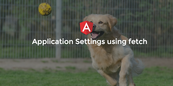 Angular 2 :  Application Settings using fetch